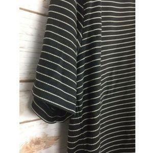 PGA Tour Shirts - 🔥PGA Tour Golf Polo Shirt Black White Striped